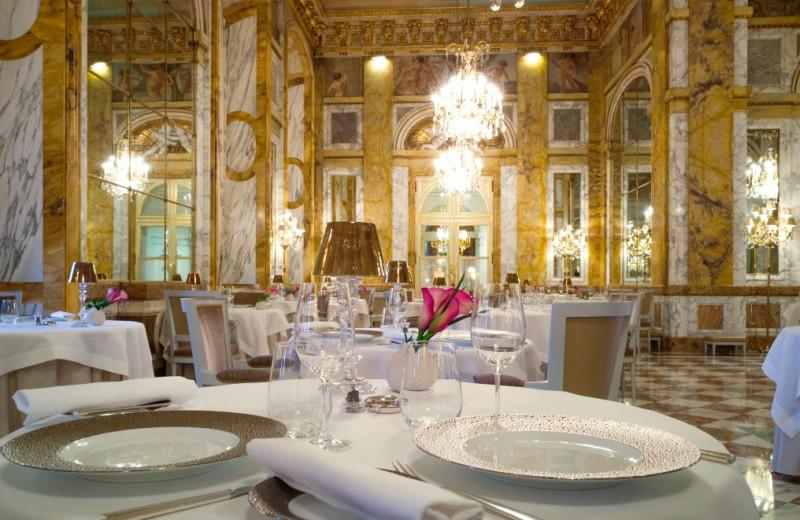 Dining at Hôtel de Crillon.