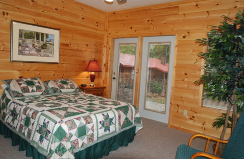 Cabin Bedroom at Stetson's on the White