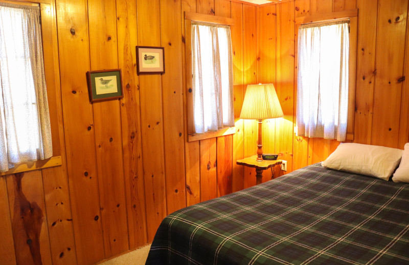 Cabin bedroom at Wilderness Resort Villas.