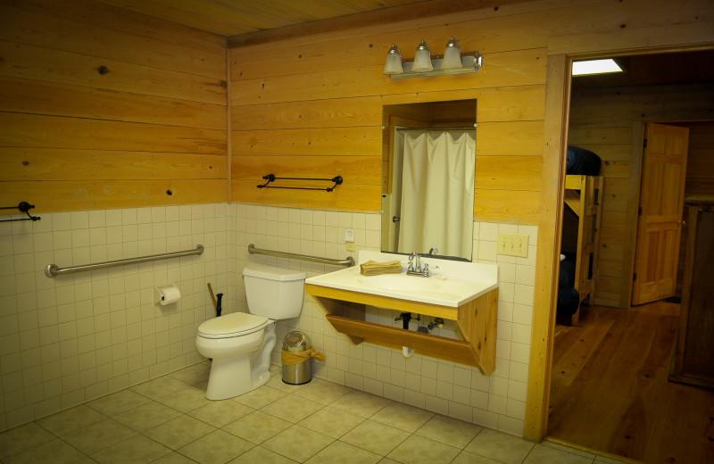 Guest bathroom at Buckhead Ranch.