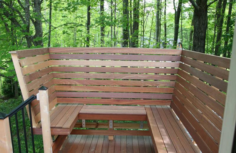 Treetop deck at Morning Glory Inn.