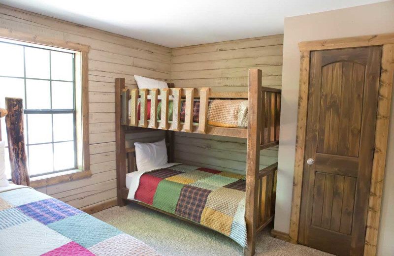 Cabin bedroom at Indian Point.
