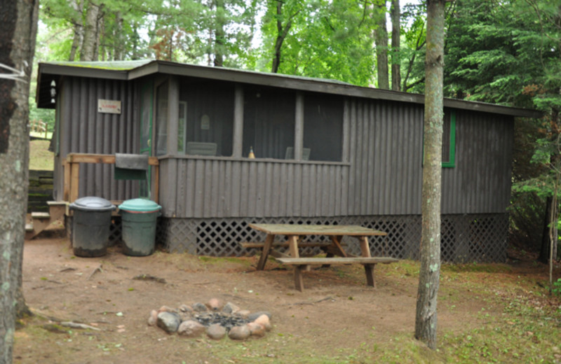 Cabin at Sandy Point Resort.