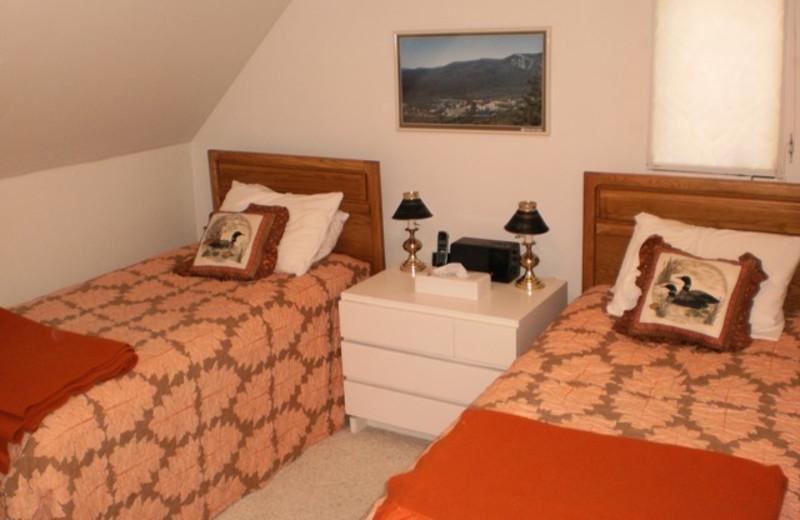 Vacation rental bedroom at Village Condominium.