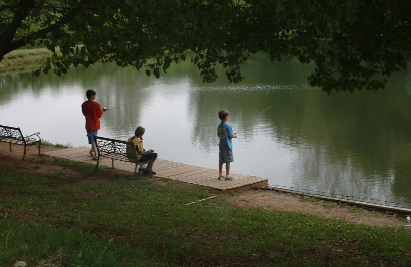 Fishing at Basswood Country Resort.