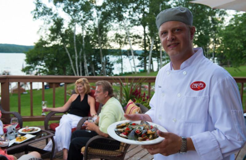 Fine dining at Sugar Lake Lodge.