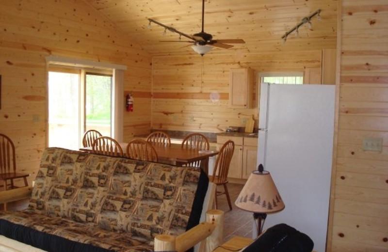 Cabin interior at Anchor Inn Resort.