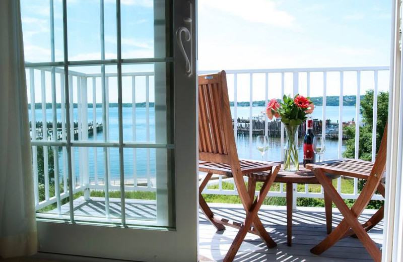 Private balcony at Harborfront Inn at Greenport.