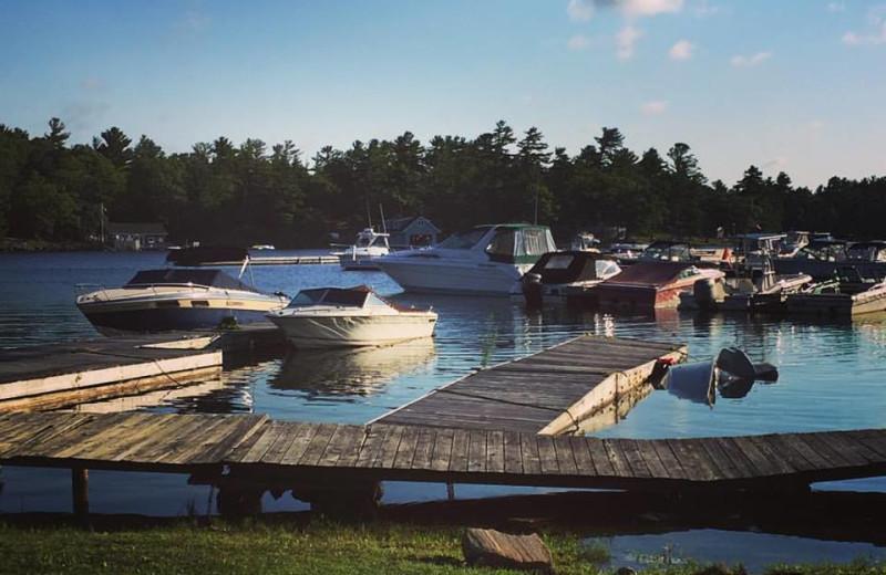 Docks at Delawana Resort.