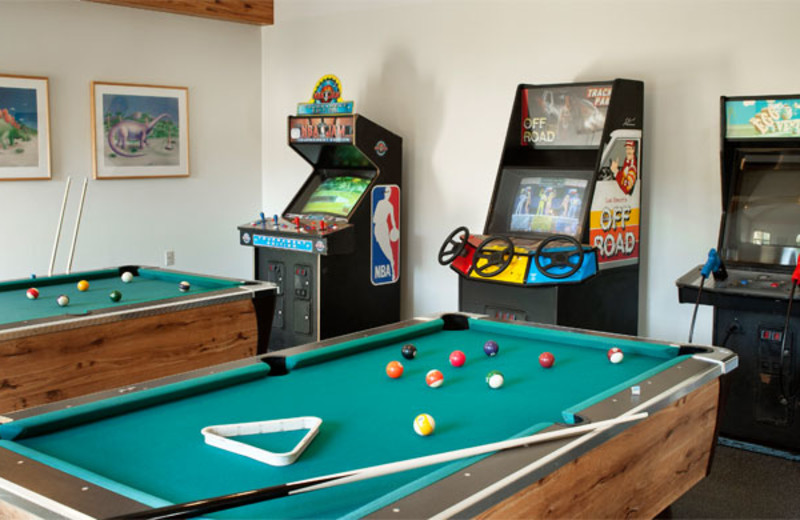 Game room at Summit Resort.
