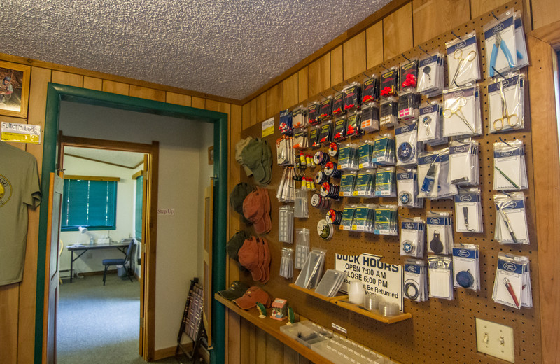 Bait and tackle at Fulton's Lodge on the White River.