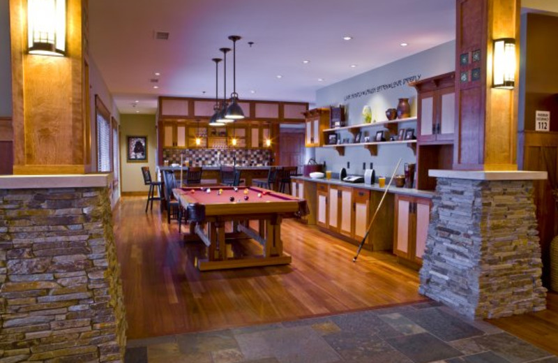 Billiards table at Tamarack Lodge.