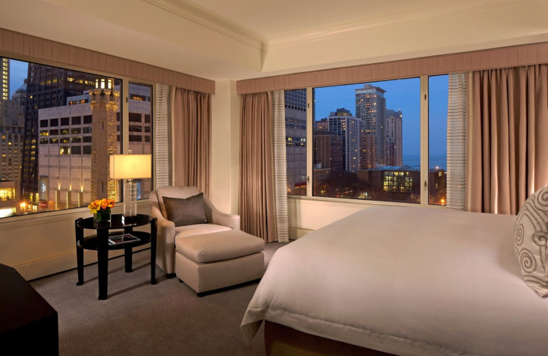 Guest room at The Peninsula Chicago.