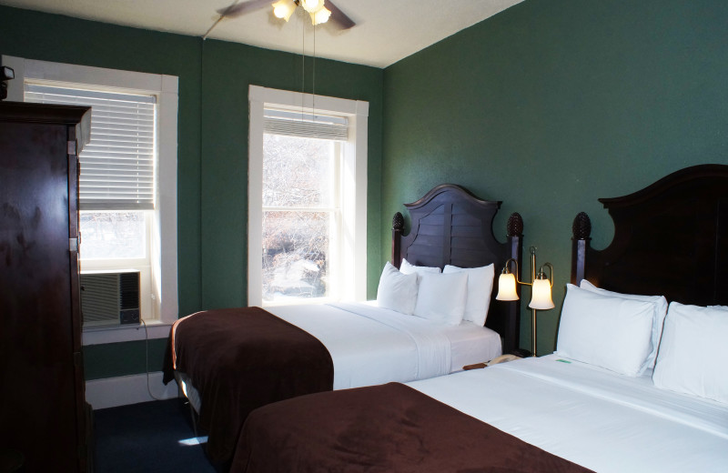 Two bed guest room at 1905 Basin Park Hotel.