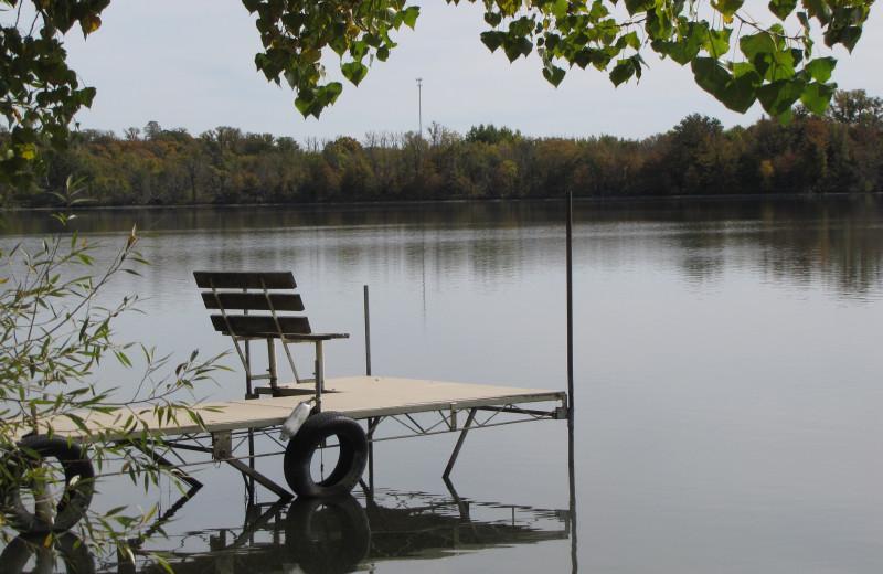 Fishing dock at Mill Lake Resort.