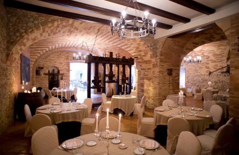 Dining at Castello Chiola Hotel.