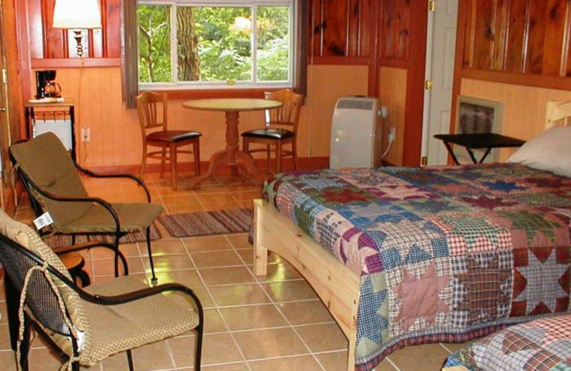 Rental bedroom at Happy Mountain Lodging.
