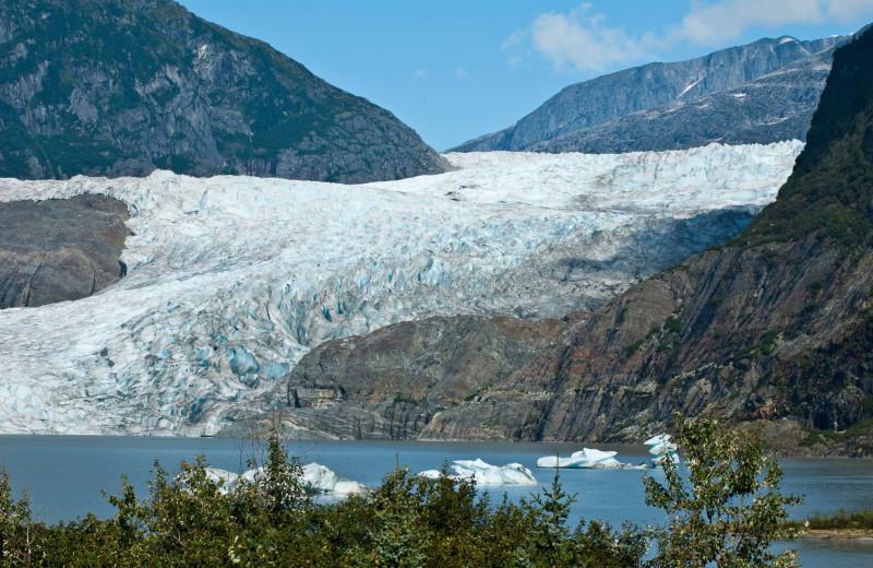 Glacier near Favorite Bay Lodge.
