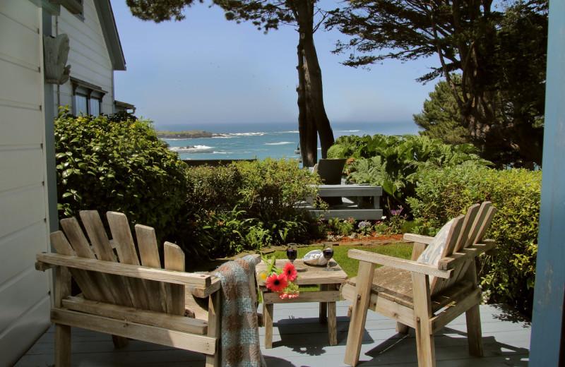 Patio at Agate Cove Inn.