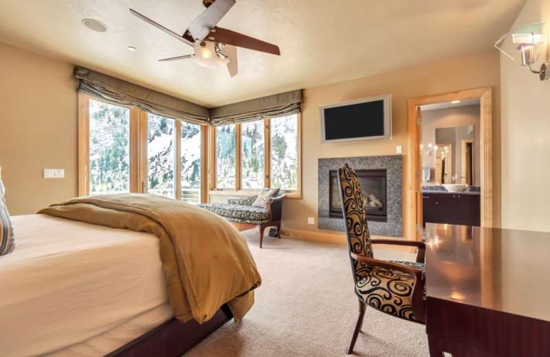 Rental bedroom at Canyon Services Vacation Rentals.