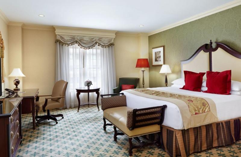 Guest room at Willard InterContinental Washington.