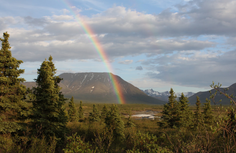 Rainbow at Kenai Riverside Lodge.