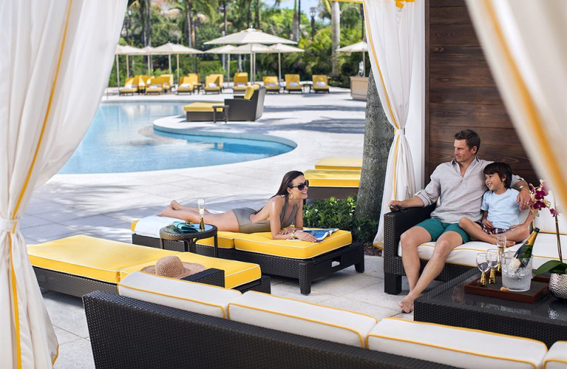 Poolside cabana at Trump National Doral Miami.