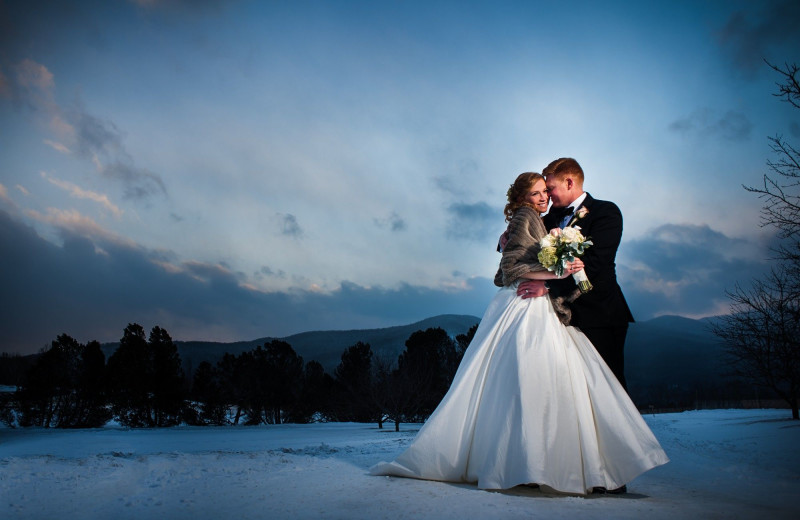 Wedding couple at Trapp Family Lodge.