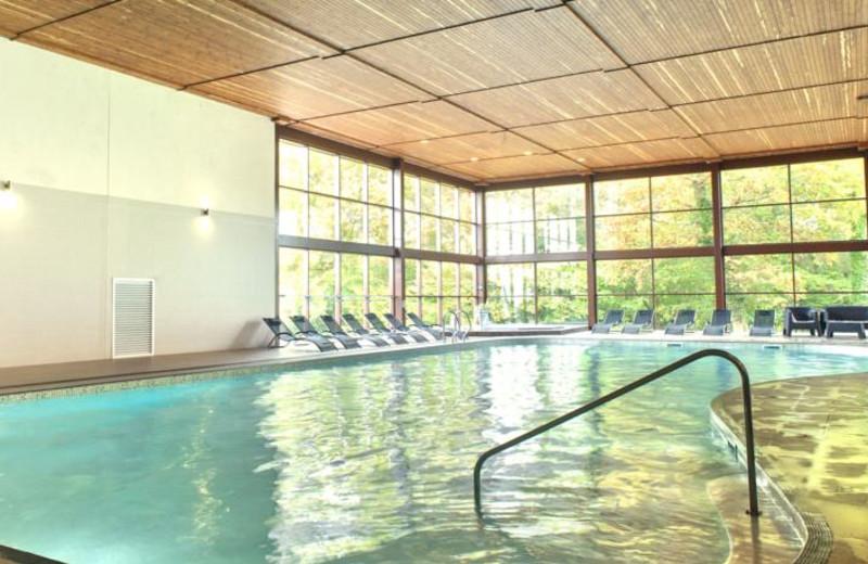 Indoor pool at Woodbury House Hotel.