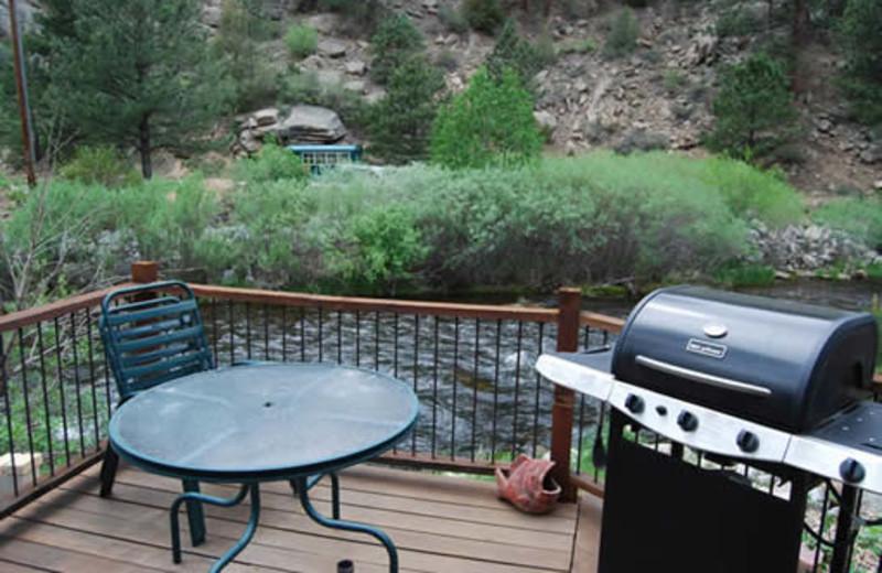 Cabin deck at Range Property Management.