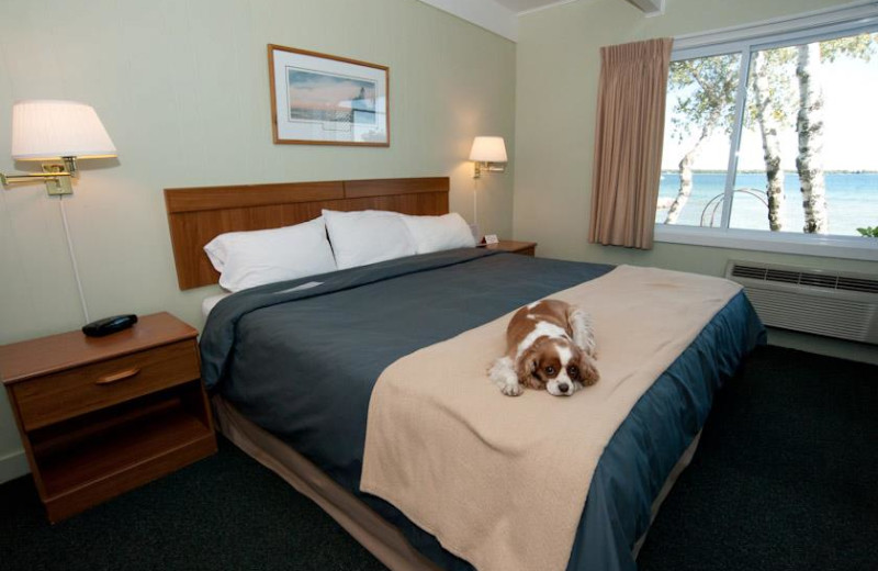 Guest Room at Beachfront Inn