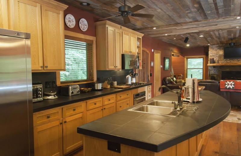 Kitchen at Nantahala River Lodge.