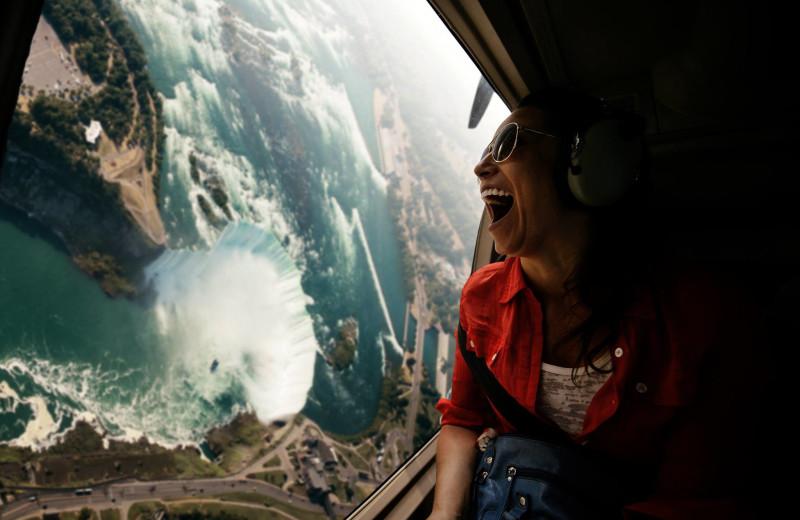 Niagara falls aerial view near Vine Ridge Resort.