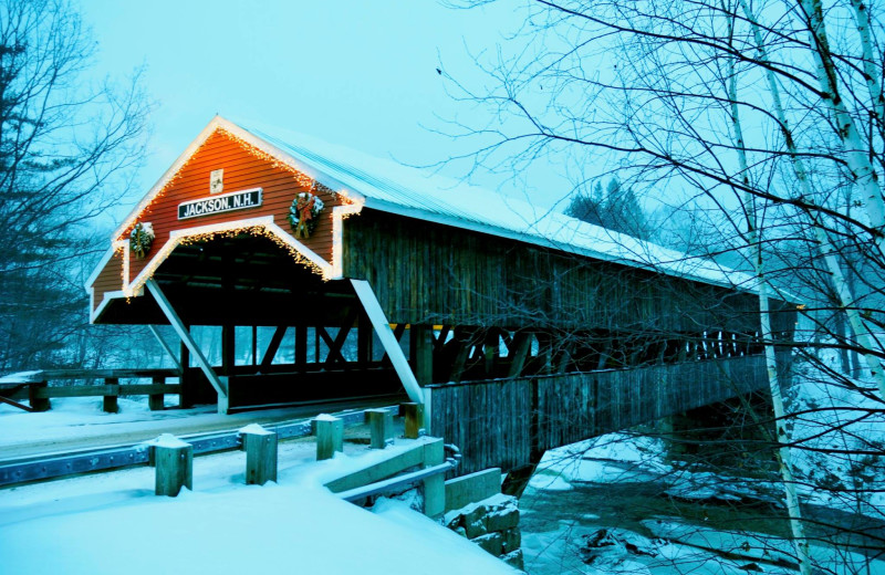 Covered bridge at North Conway Lodging.