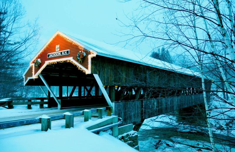 Covered bridge at North Conway Lodging.