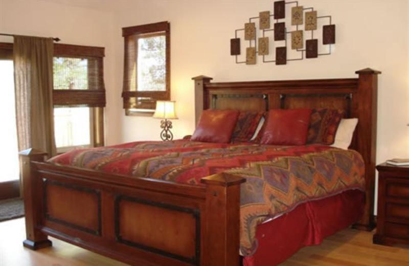 Vacation home bedroom at Zion Ponderosa Ranch.