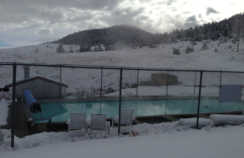 Pool at Boulder Hot Springs.
