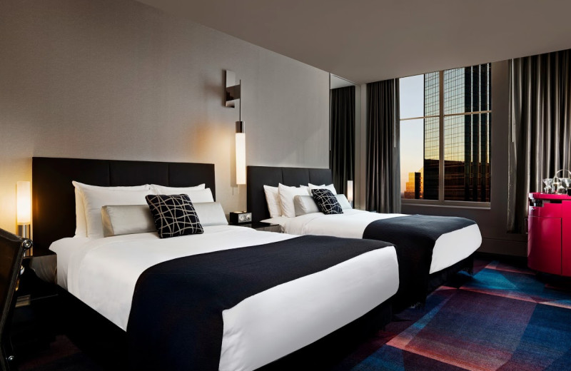 Guest room at The W Hotel Minneapolis.
