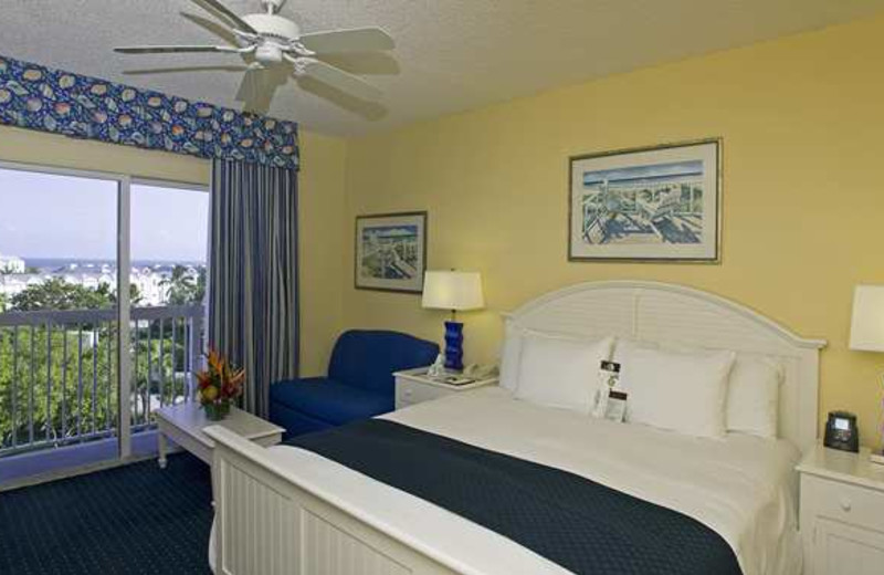 Guest room at Doubletree Grand Key Resort.