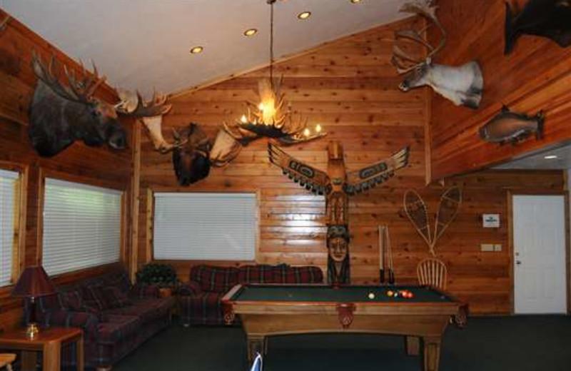 Lodge lounge at Gone Fishin' Lodge.