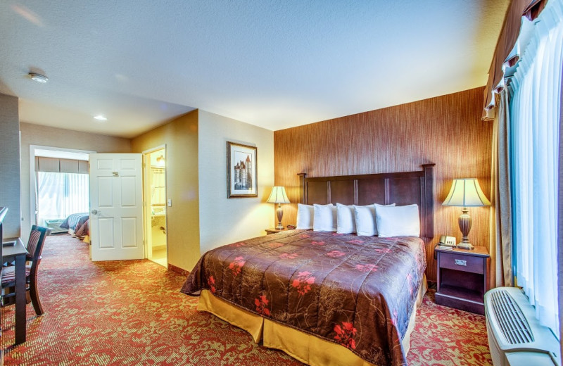 Guest room at Castle Inn and Suites.