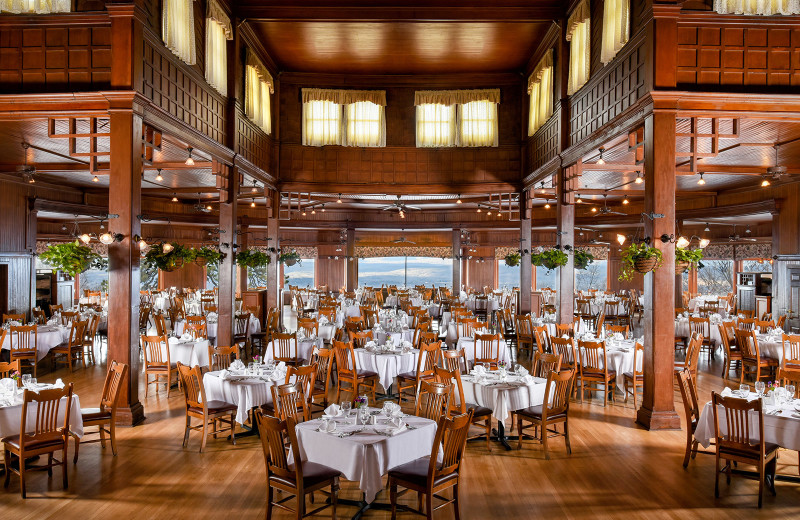 Dining at Mohonk Mountain House.