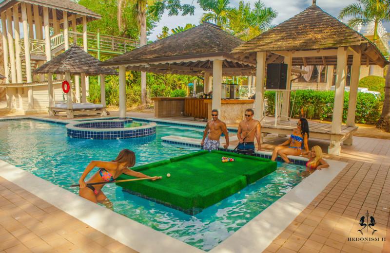 Outdoor pool at Hedonism II.