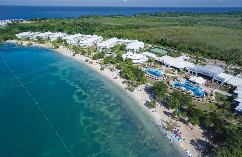 Aerial view of Riu Negril All Inclusive.