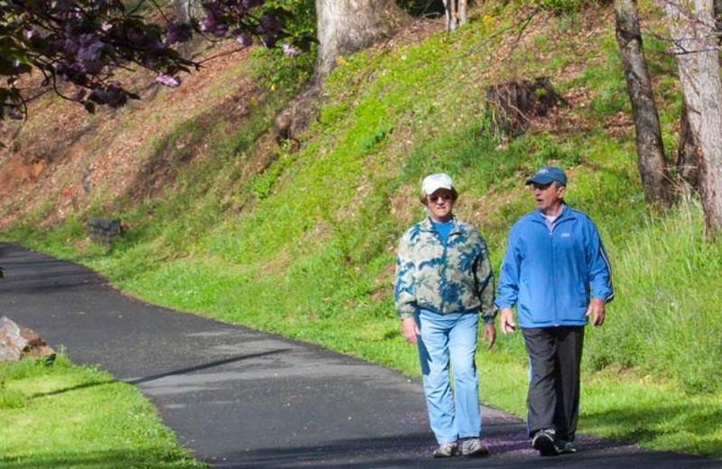 Walking path at The Terrace at Lake Junaluska.
