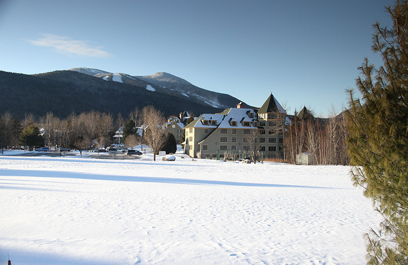 Exterior view of The Golden Eagle Lodge.