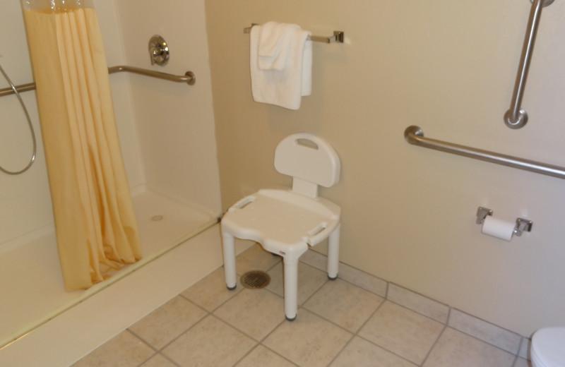 ADA accessible bathroom at @ Michigan Inn and Lodge.