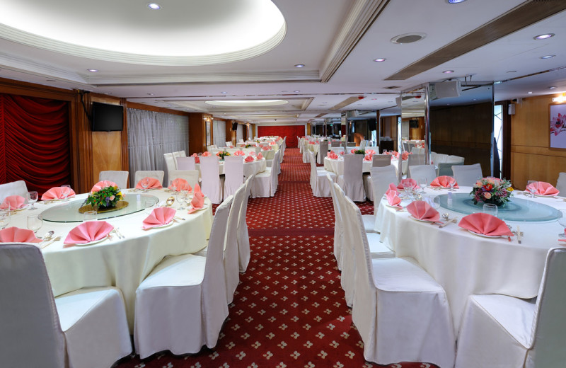 Banquet room at Hotel Concourse.