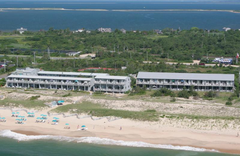 Aerial view of Ocean Vista Resort.