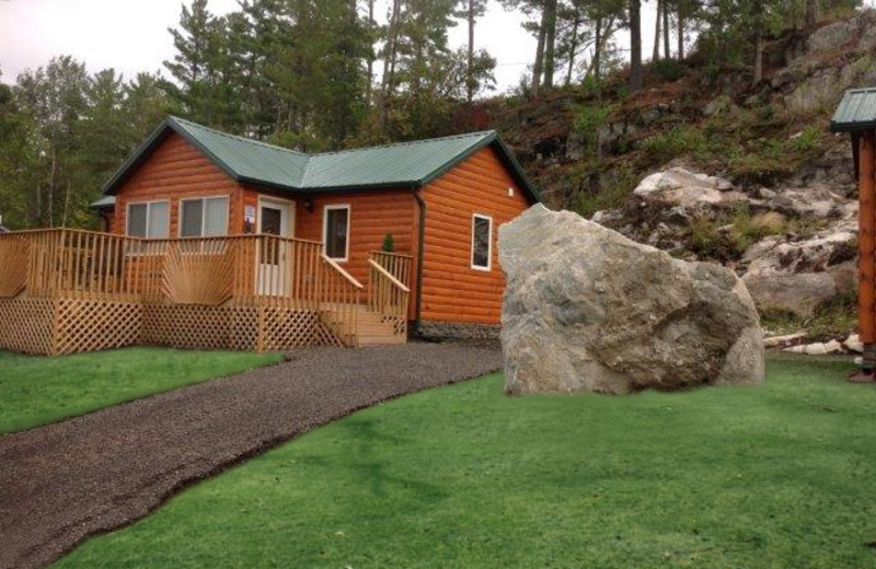 Cabin at The Pines of Kabetogama Resort.